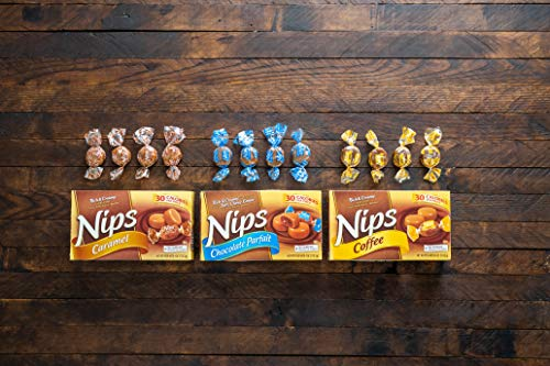 Nips Caramel Candy, 4 Ounce Box (Pack of 12)