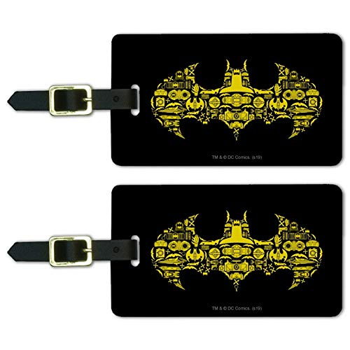 Batman Batman Icons Logo Luggage ID Tags Suitcase Carry-On Cards - Set of 2