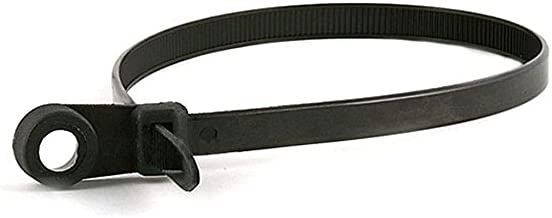 Monoprice 105789 14-Inch 120LBS Mountable Head Cable Tie, 100-Piece/Pack, Black