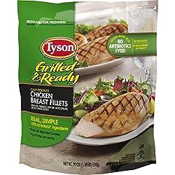 Tyson, Grilled Chicken Breast Fillet, 22 oz (Frozen)