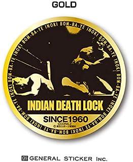 アントニオ猪木X東スポ 技シリーズ ステッカー INDIAN DEATH LOCK インディアン・デスロック 鏡面 金 銀 猪木ジャパン! プロレス IN039 gs 公式グッズ (GOLD)