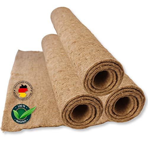 Tamay Nagermatten aus 100% Hanf, 100 x 50cm I Premium Nagerteppich als staubfreie Käfig Bodenbeckung für Kaninchen, Meerscheinchen, Kleintiere – Natürliche Hanfmatte für Nagetiere (2 Stück)