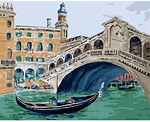 DIY 5D diamante pintura barco veneciano por kit de númerospunto de cruz diamante completoadecuado para decoración familiarniños y adultos pintura a mano 40x50 cm