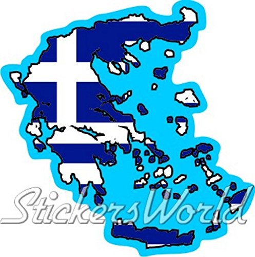 GRIEKENLAND Hellenic Map-Flag GREEK Hellas 4.7