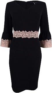 Sangria Womens Petites Lace Bell Sleeve Mini Dress