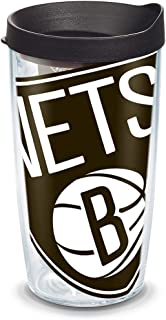 Tervis NBA Brooklyn Nets Colossal Tumbler with Wrap and Black Lid 16oz, Clear