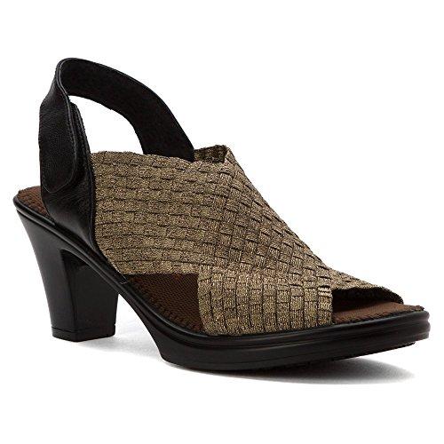 bernie mev. Womens Beatrice Bronze Sandal 37 (US Womens 6.5) M