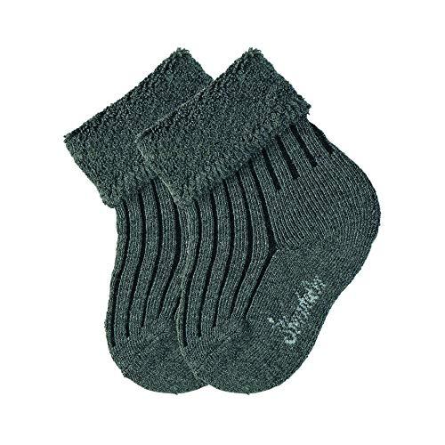 Sterntaler Unisex Baby Schirmmütze mit Nackenschutz Socken, Grau (anthrazit Mel. 592), 0-3 Monate (Herstellergröße: 14)
