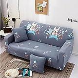 WXQY Funda de sofá elástica con Todo Incluido Resistente al Desgaste, Hermosa Funda de sofá Antideslizante de Color Amarillo Brillante Funda de sofá