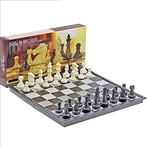LICHUAN Juego de ajedrez de Viaje magnético con Juego de ajedrez de ajedrez Plegable Conjunto de Juguetes educativos para el Juego Familiar del Estudio Juegos de Mesa (tamaño : 32cm)