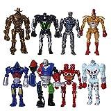 8Pcs/Set 13cm Action Figures Toys Real Steel Atom...