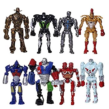 8Pcs/Set 13cm Action Figures Toys Real Steel Atom Movie Zeus Twin Cities Midas Doll Model Anime Robot Model Toys Chilren Gift
