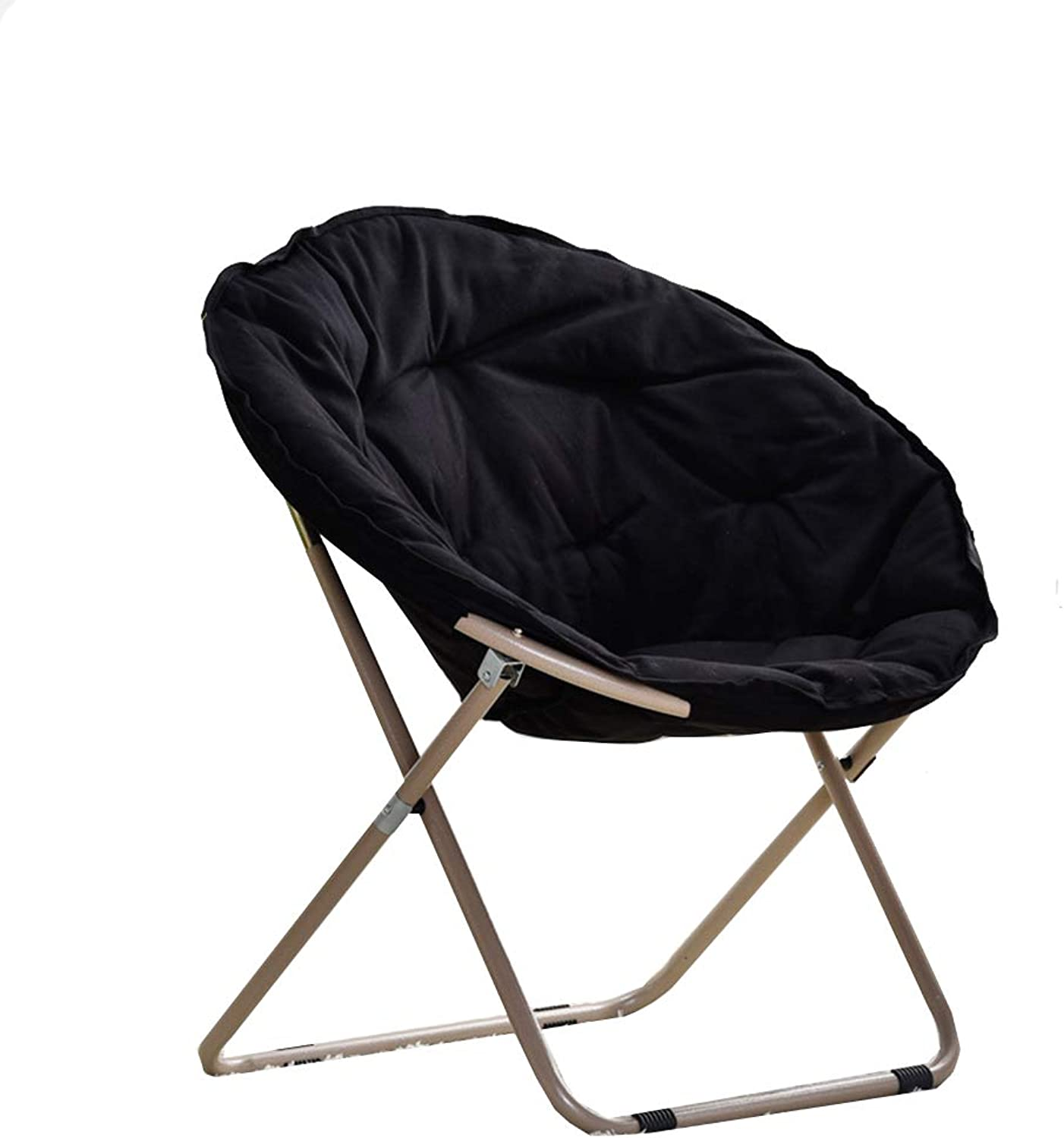 Big Comfy Chair Lazy Chair Balcony Folding Chair Camping Moon Chair Large (color   A)