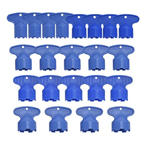 DOITOOL 20 Stücke luftsprudler wasserhahn schlüssel werkzeug entfernung schraubenschlüssel werkzeug für m 16,5 18,5 21,5 22,5 24 cache belüfter küchenspüle belüfter schraubenschlüssel