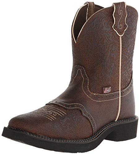 Justin Boots Women's Gypsy, Brown Flower Embossed, 8 B US