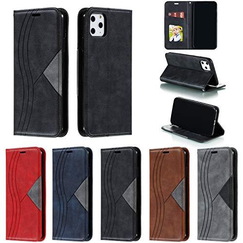 Hülle Handyhülle for iPhone 11 Pro Max, Premium Leder Flip Schutzhülle [Standfunktion] [Kartenfächer] [Magnetverschluss] lederhülle klapphülle für Apple iPhone 11 Pro Max - TTYKB040042 Schwarz