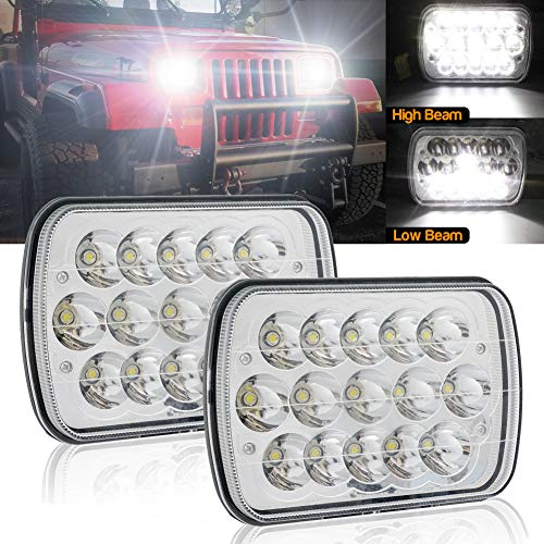 5.75 inch LED Headlight 12v 24v for Truck Offfroad Motorcycle 5-3//4 Headlamp Round Projector Sealed Beam 36W for H5001 H5006 H4001 PAR46 4000 4040 5506 5009 H5006LL H5009 H5001XV jose2015 8bulblight
