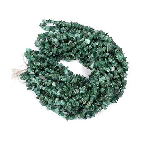 Perlas de piedras preciosas sin cortar de Esmeralda natural para la fabricación de joyas | Perlas de piedras preciosas de forma libre de pepitas de chips de 4-5 mm | Cuentas sueltas de calidad AAA