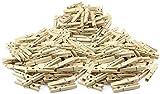 com-four 250x Pinzas Naturales para la Ropa, Pinzas Resistentes Hechas de Madera de Abedul (250 Piezas)