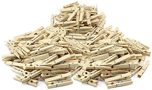 com-four® Lot de 250 Pinces à Linge Naturelles, Pinces à Linge Robustes en Bois de Bouleau de Haute qualité (250 pièces)
