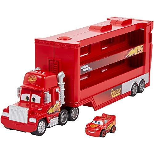 Disney and Pixar Cars Disney and Pixar Cars Minis Transporter with Vehicle, Kids Birthday Gift for Ages 4 Years and Older