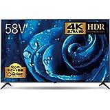 山善 58V型 HDR 4K対応 液晶テレビ (裏番組録画 外付けHDD録画対応) Simple Plan ARC-58W4K【Amazon.co.jp限定】