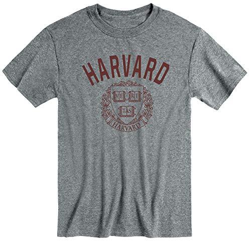 Ivysport Harvard University Crimson Short-Sleeve T-Shirt, Heritage, Charcoal Heather, Small