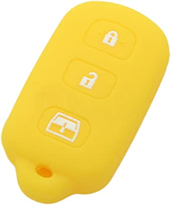 Key Fob Cover For 2006-2013 Honda Civic Remote Case Rubber Skin Jacket
