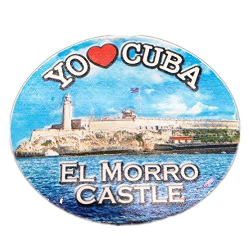 Morro Castle Havanna Kuba Kühlschrankmagnet 3D Harz Handgemachtes Handwerk Touristische Reise Stadt Souvenir Sammlung Brief Kühlschrank Aufkleber