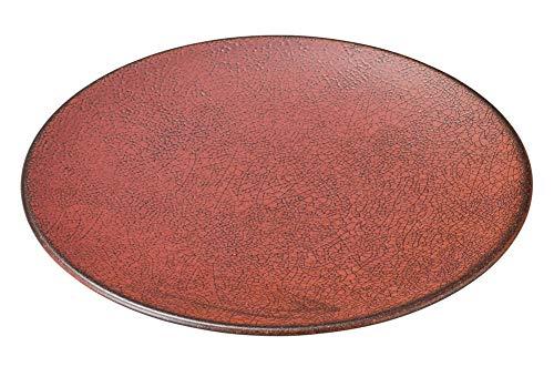 柿赤 25cm丸皿 [ 25.1 x 2.8cm ] [ 大皿 ] | 飲食店 和食 旅館 料亭 ホテル 業務用
