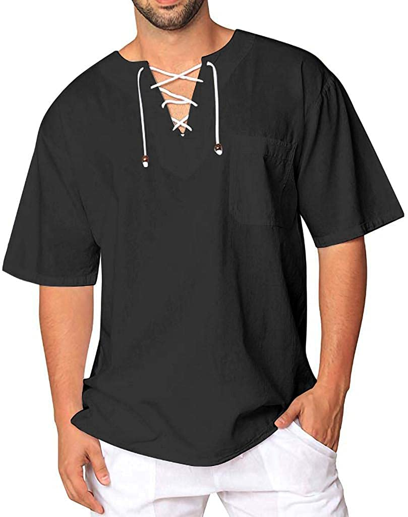 Men Pirate Limited time sale Medieval Shirts Short Gothic Sleeve Ruffled Selling and selling Shi Mens