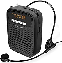 Voice Amplifier Portable Headset Microphone - S278 15W Lightweight Wired Mini PA System Wearable Megaphone Speaker Supports USB/AUX/Recording/FM Radio for Teachers, Tour Guides