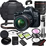 Canon EOS 5D Mark IV DSLR Camera Bundle with 24-70mm L is USM Lens | Built-in Wi-Fi|30.4 MP Full Frame CMOS Sensor | |DIGIC 6+ Image Processor and Full HD Videos + 64GB Memory(17pcs)