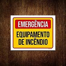 Placa Sinalização - Emergência Equipamento Incêndio 18x23