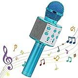 WS-858 - Micrófono, inalámbrico, Bluetooth, HiFi, para karaoke, altavoz o portátil, color rosa