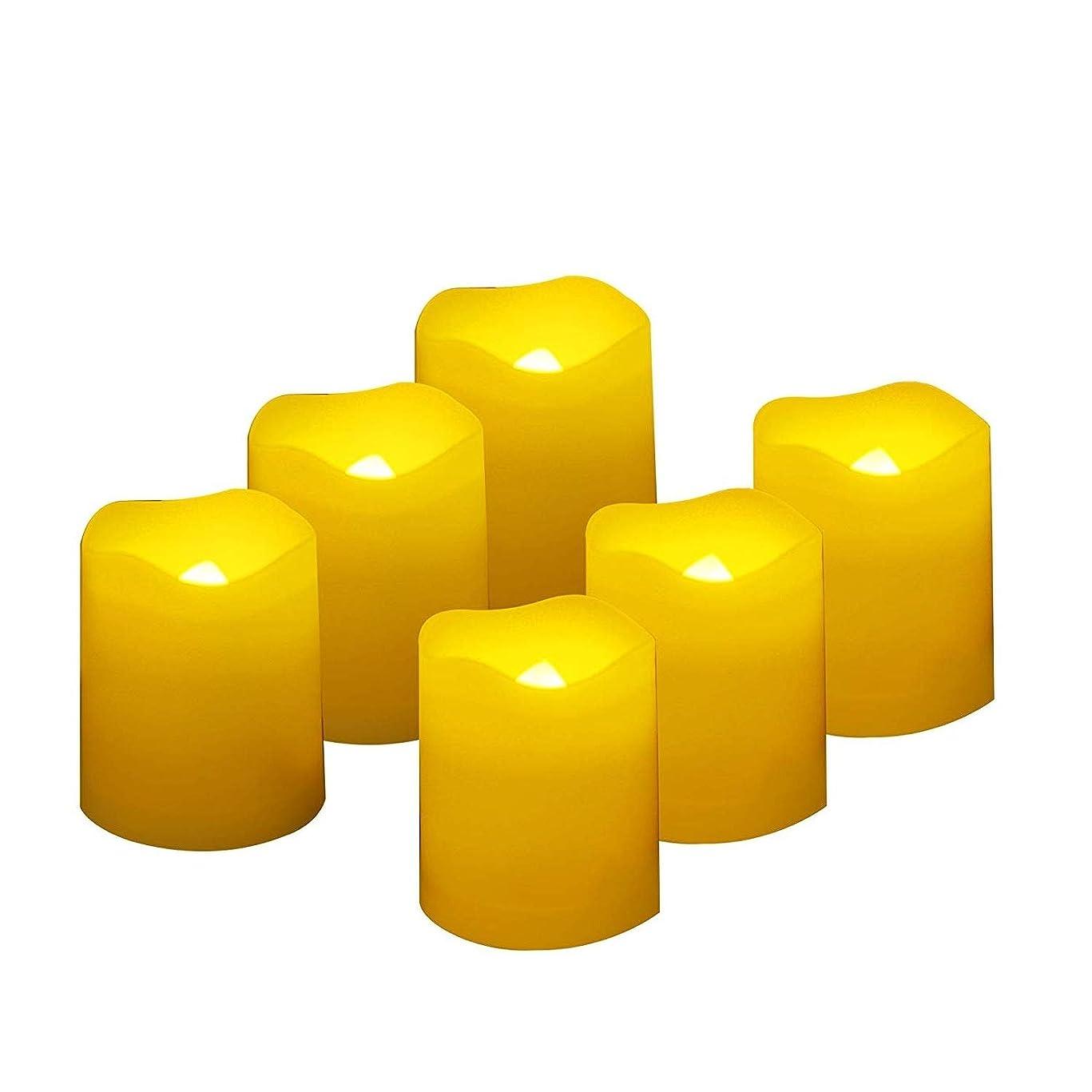 混乱させる適応するステートメントFlameless LED Votive Candles withタイマー?–?リアルなちらつきバッテリーOperated Poweredキャンドルby qidea、電気キャンドル、サイズ1.5?