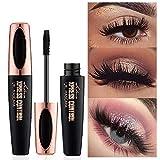 4D Silk Fiber Lash Mascara, Fiber Mascara,Extra Long Lash Mascara and Thick,Waterproof,Lasting All Day, Smudge Proof Eyelashes (2pcs)