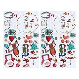 STOBOK 2 Pcs De Noël Stickers Muraux PVC Amovible Dessin Animé Père Noël Bonhomme De Neige Fenêtre Decal pour Fête De Vacances Maison Vitrine Porte Décoration (Couleur Assortie)