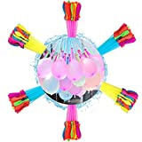 222 Stück Wasserbomben,Wasserbombem selbstschließend,Water balloons,6 Sträuße mit je 37 Wasserballons, Kein mühsames Füllen und Verknoten von Wasserballons mehr