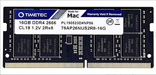 "Timetec Hynix IC Compatibile con Apple 2019 iMac 27"" w/Retina 5K Display, fine 2018 Mac Mini DDR4 2666MHz PC4-21300 2Rx8 CL19 1.2V SODIMM Memoria RAM Upgrade (16GB)"