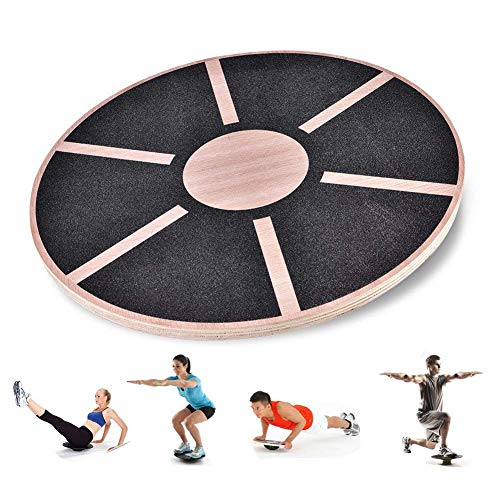 Stanz (TM) Wooden Balance Board for Exercise, Gym, Sport Performance Enhancement, Rehab, Training