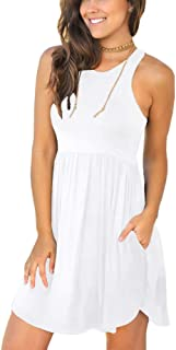 LONGYUAN Women's Summer Casual T Shirt Dresses Swimsuit...
