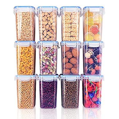 Food Storage Containers 12 Pieces 1.5qt/1.6L In...