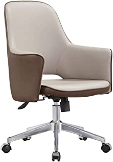 KFDQ Sillas de escritorio , Silla de oficina Silla ejecutiva Silla de oficina de oficina con ruedas Silla de conferencia Silla de escritorio de hotel Arte de cuero Sillas modernas simples