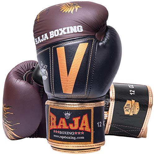 RAJA Boxhandschuhe, RJB-P5 Deluxe, Choc-schwarz Größe 16 Oz