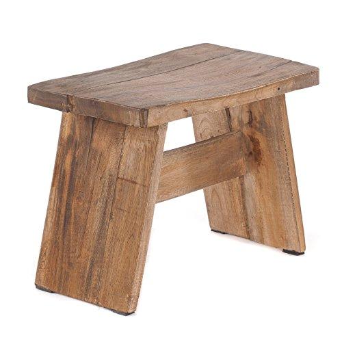 "SITZBÄNKCHEN""SCHEMEL"" | Recyclingholz, natur braun, 40x31(LxH) cm | Fußhocker, Hocker, Melkschemel,"