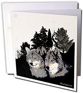 3dRose Rocky Mountain Wolves - Greeting Cards, 6 x 6 inches, set of 6 (gc_22834_1)