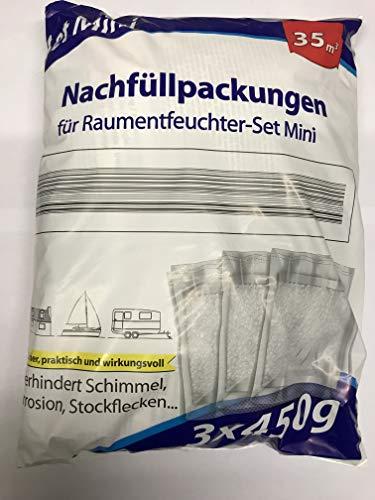3 x 450g Nachfüllpack für Raumentfeuchter Mini-Set