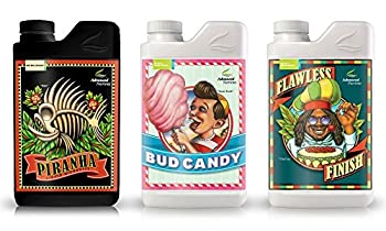 Advanced Nutrients Expert Grower Bundle Piranha Bud Candy Flawless Finish Plant Fertilizer Booster Enhancer 250 ml 8.4 oz