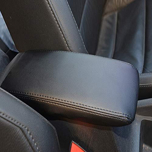 Armlehnen-Deckel, bequemes Auto Kunstleder obere Unterstützung Armlehne Abdeckung Deckel für 2016 2017 2018 VW Tiguan für Golf 7 (schwarz)